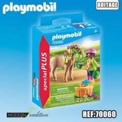 PLAYMOBIL CAVALIERE + PONEY