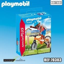 PLAYMOBIL CYCLISTE AVEC MARMOTTE